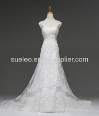 2013 Lace Shoulder Embroidery Mermaid Wedding Dresses Bride Dresses Wonderful Party Gown NW0731