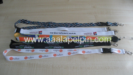 Fashion dye sublimation lanyards with key ring for promotion
