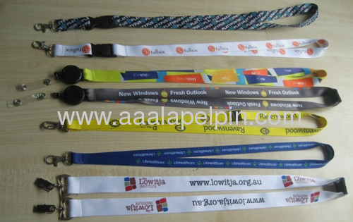polyester promotional business gifts sublimation printing mobile lanyard and neck lanyard