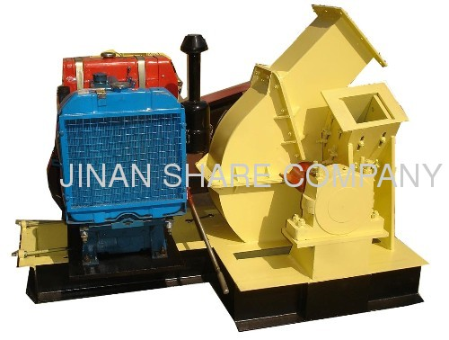 Disc wood chipper machine