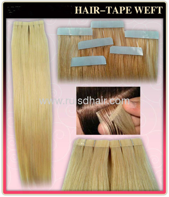 tape hair extension 100% human hairmachine made good quality