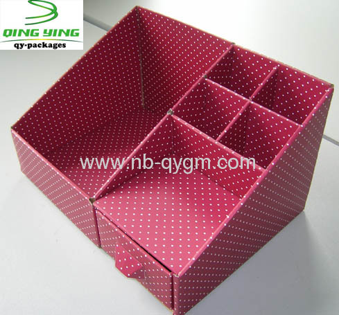 Assembled Folding office organiser boxes