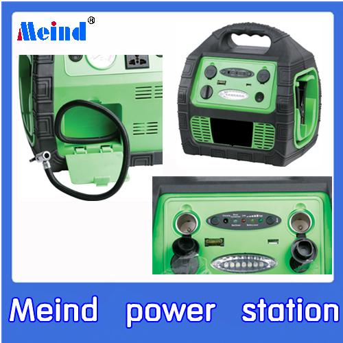 Meind 900A Jump Starter with air compressor and Inverter 150W