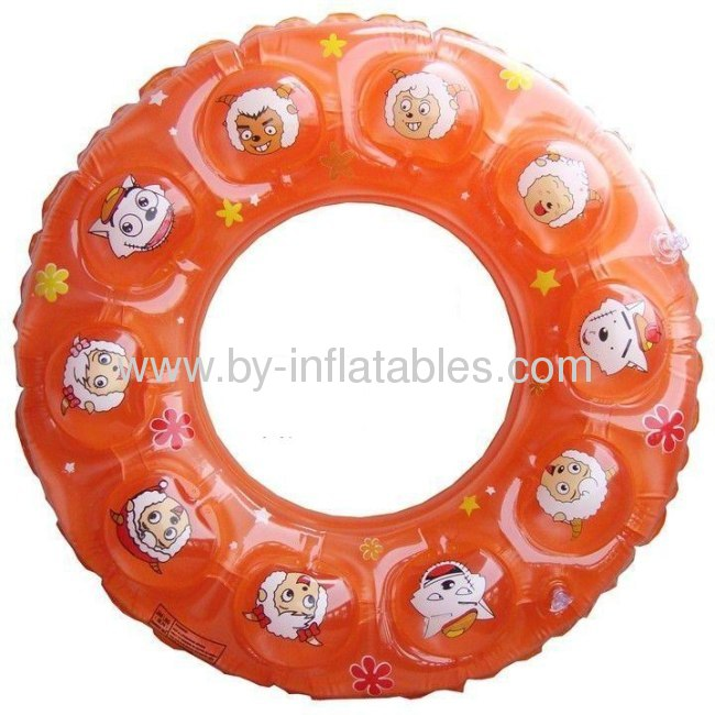 Cartoon double layer inflatable swimming ring