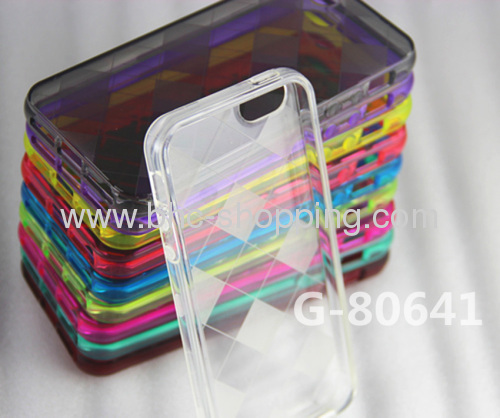 High Quality Tilt Grid Pattern TPU Cover for iPhone 5