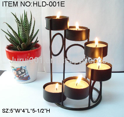 Metal candle holder with plating