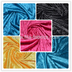 100% polyester Plain dyed clinquant velvet fabric-Clinquant velvet fabric