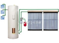 split solar water heater with solar pump station