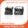 Composite Video+L/R audio extender over lan cable Cat5/5e/6