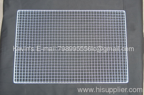 Stainless steel BBQ grill netting grill topper