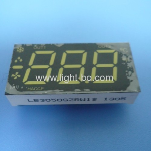 Ultra White/Red 0.50-inch 3 1/2 digit led seven segment air conditioner displays