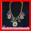 Wholesale Fashion Jewelry Glass Stone Crystal Rhinestone Flower Bib Necklace