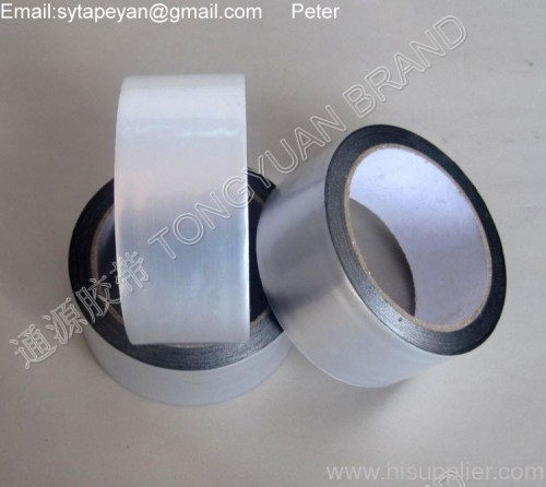 three layers structured aluminum foil-plastic composited adhesive tape
