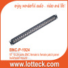 19' 1U 24 ports BNC female to female patch panel bulkhead mount