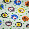cartoon printed poly spun velour fabric