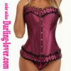 Dark Red Sexy Lace Corset