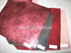 flocked pu synthetic leather