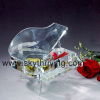 crystal piano, clear crystal piano music box