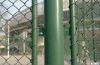 Plastic coated chain link fence /