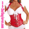 Red Leather Belt Corset
