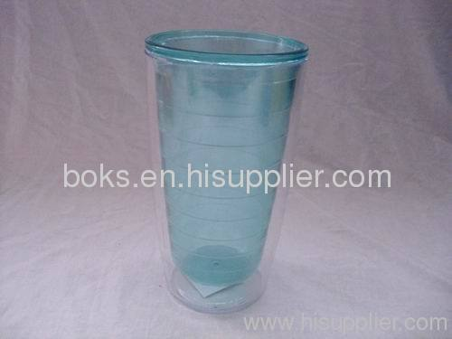 durable plastic double-wall cups