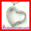 2013 New Pave Rhinestone Crystal Heart Shape Floating Charm Locket