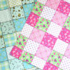 100% cotton collage style flannel fabric for babys