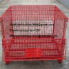 Folded metal wire mesh container