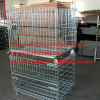 four wheel wire mesh container for supermarket