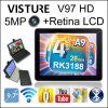 9.7 inch 2G RAM Retina Android 4.1 Visture V97HD Quad Core Tablet PC