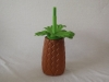Plastic pineapple shaped Straw Cups