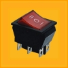 16 A on-off-on rocker switch with LED light