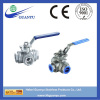 Hebei factory three way stainless steel ball valve, 1000wog, reduce bore