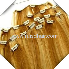 100% clip in hair extension INDIAN VIRGIN REMY GOOD QUALITY