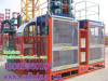 1t double cage building hoist construction elavator CE certification cargo freight lifting building material 1000 kg