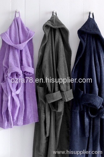 Unisex Hooded Terry Bathrobes