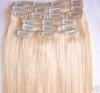 100% Brazilian hair extension with clips