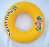 Yellow inflatable swim ring for adult