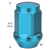Wheel Lug Nuts of Conical Nut, Made of Steel, AISI 1008 to 1010, 35mm Height