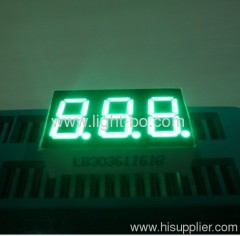"0.36"" anode super green Triple-digit 7-segment LED Display"