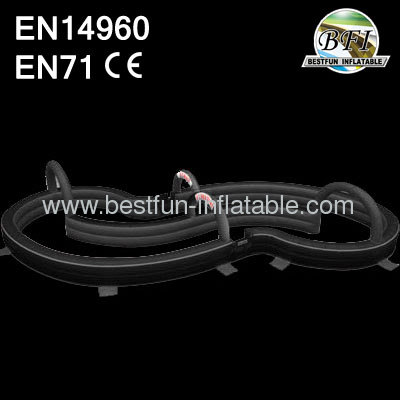Pvc Qualitied Black Inflatable Race Track For Car