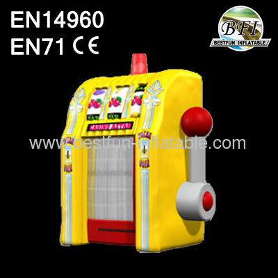 Yellow Inflatable Cash Vault Game