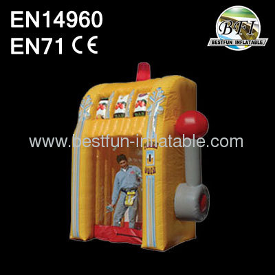 Yellow Inflatable Slot Machine