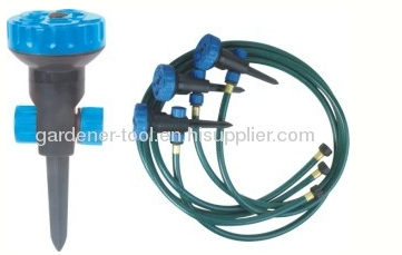 Plastic 5-Pattern Yard Water Sprinkler For Irrigation Garden Yard
