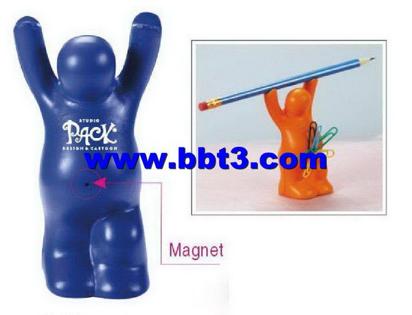 Promotional PU pregnant shape pen holder with magnet