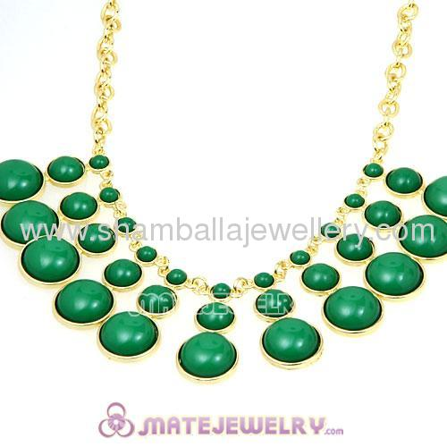 Wholesale fashion green bubble bib Dress Necklace For women