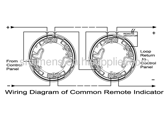 Led Remote Indicator Output 2-wire Intelligent Addressable Smoke Detector Products