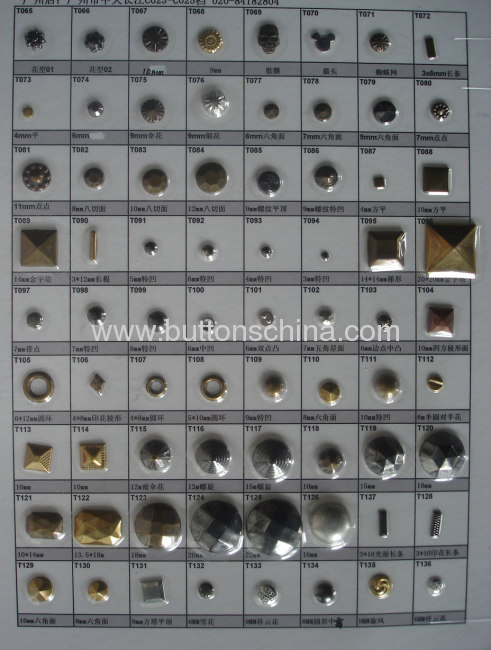 Star metal hot fix studs