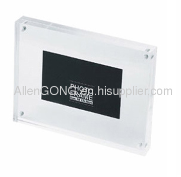 Clear Custom Acrylic Magnet Photo Frame Picture Frame
