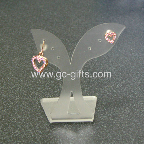 Diamond earring tree shaped display stand holder